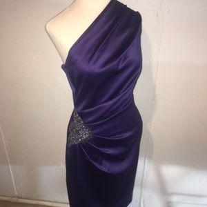 Eliza J One Shoulder Cocktail Dress